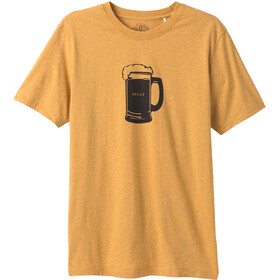 Prana Beer Belly Journeyman SS T-Shirt Men marigold heather